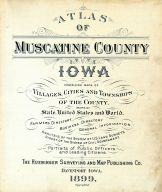 Title Page, Muscatine County 1899